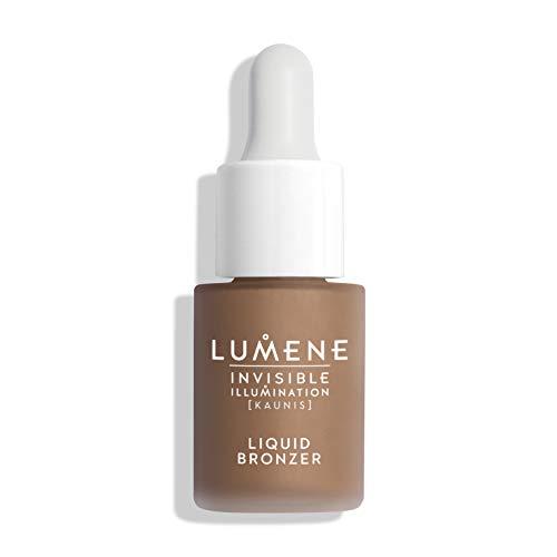 Lumene Invisible Illumination Kaunis Liquid Bronzer, Watercolor Bronzer, 0.5 Fl Oz