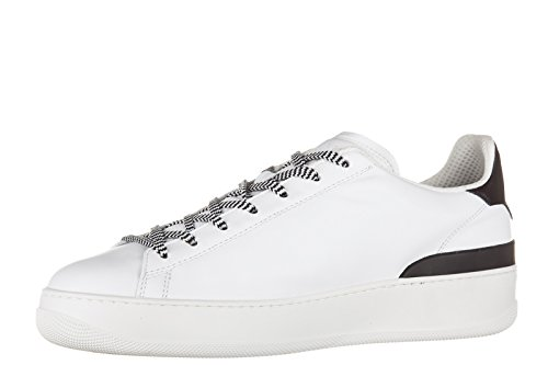 Hogan Rebel chaussures baskets sneakers homme en cuir pure 86 allacciato blanc