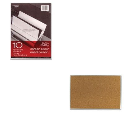 KITMEA40114MEA85361 - Value Kit - Quartet Cork Bulletin Board (MEA85361) and Mead Black Carbon Mill Finish Paper (MEA40114) by Quartet