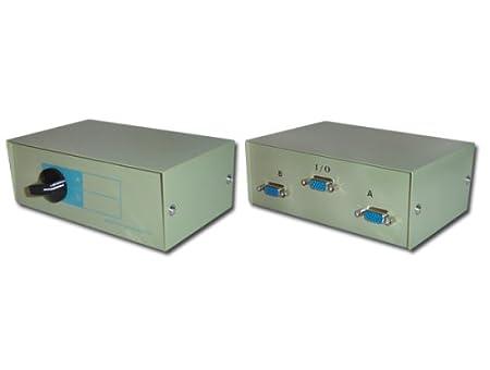 2 Port Way VGA Monitor Switch Box Amazoncouk Electronics