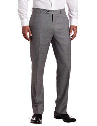 - Tommy Hilfiger Mens Flat Front Trim Fit 100% Wool Suit Separate Pant, Grey Solid, 34W x 30L