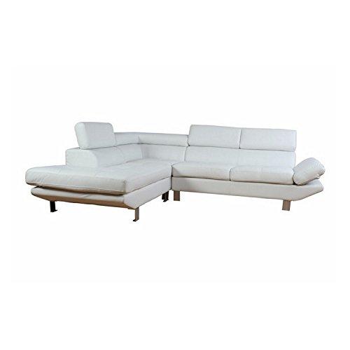 Schöne Möbel nicht lieben-Sofa baumeln links Tétières verstellbar, Weiß