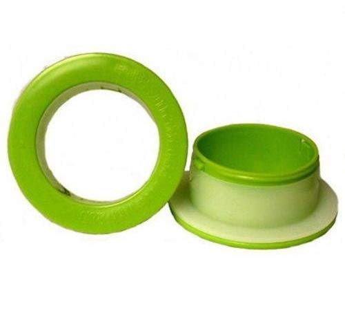 Green Color Lightweight Hand Savers Plastic Dispenser for 3'' Core Hand Stretch Wrap (1 Pair) by PackagingSuppliesByMail