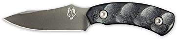 Southern Grind Jackal Pup Fixed Blade Knife w Gunmetal Blade and Black Kydex Sheath