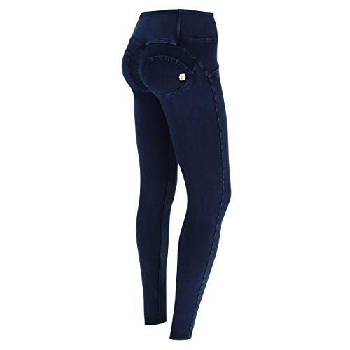In A Jeans Media Scuro Vita Pantalone Denim Skinny Freddy Blu Elasticizzato cuciture Wr Regular Lunghezza up zxRIq