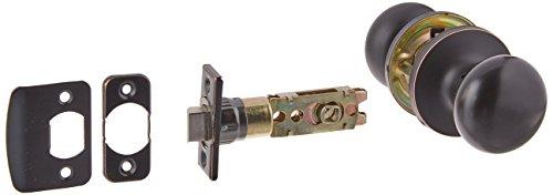 Design House 727370 Canton 6-Way Latch Passage Door Knob, Oil Rubbed Bronze - Non Locking Door Knob