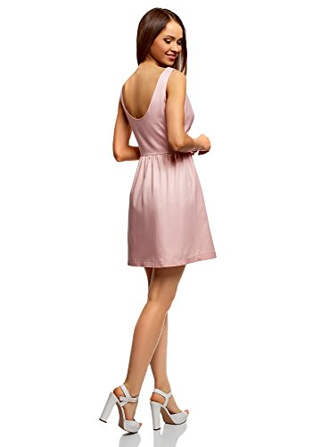 Bain Coton Robe Soleil Femme Ultra Rose en oodji 4000n de q0wptEO