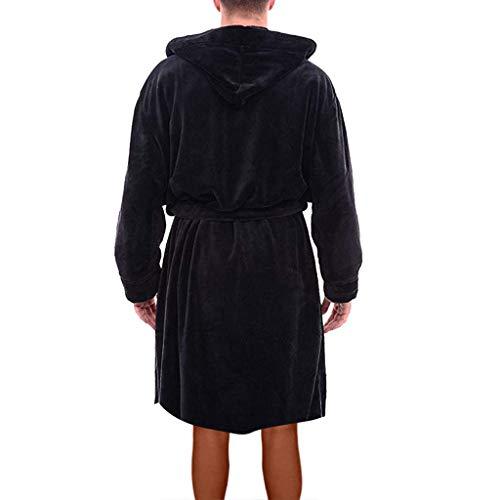 Capuche Robe Keerads Doux Blottir Hiver Chaud De Noir bleu gris Homme Longue Foncé Hommes À Noir Douce Polaire En Capuche Bain Peignoir Chambre rouge T5r5xFSq
