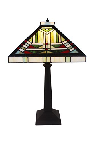 Whse of Tiffany 901#+MB102 Lucy 1-Light Tiffany-Style 12 inch Table - Company & Tiffany Outlet