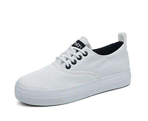 Señora Permeabilidad Color Sólido Green Zapatos 35 Ocio 38 Cómodo Simple XIE Escuela BLACK Diaria Lienzo Estudiantes dBx1Fwqd