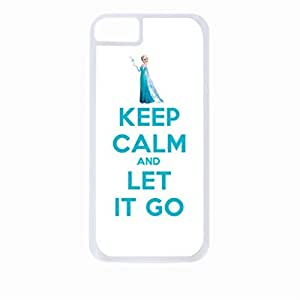Keep Calm and Let It Go-Elsa-Hard White Plastic Snap - On Case-Apple Iphone 4 - 4s - Great Quality!