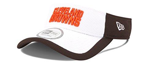 Cleveland Browns New Era NFL 2015 Training Sideline Performance Visor - White