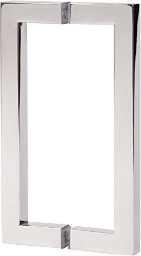 """Rockwell 8"""" Back to Back Square Pull in Chrome Finish for He"""