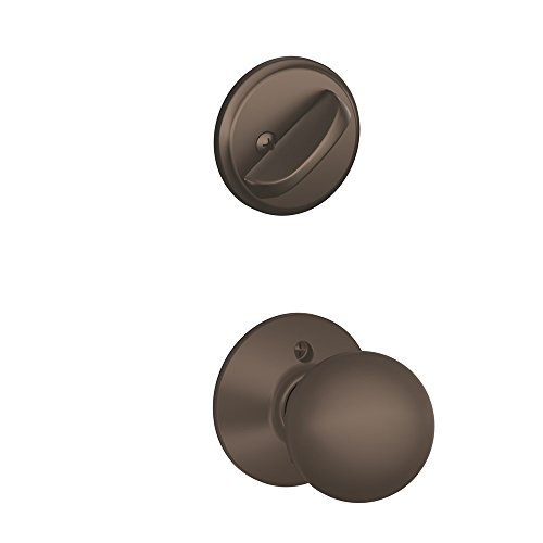 Orb 613 Lock (Schlage F59 ORB 613 Orbit Interior Knob with Deadbolt, Oil Rubbed Bronze (Interior Half Only))