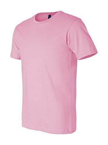 Bella + Canvas Unisex Jersey Short Sleeve Tee (Pink) (M) -