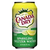Canada Dry Sparkling Lemon Lime Flavored Seltzer Water 12oz Can (Pack of 24) by Canada Dry