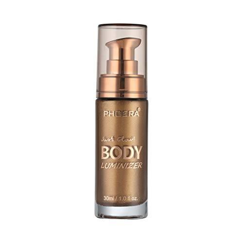 YNAA for Face and Body, 30ml Body Luminizer Makeup Highlighter Cream, Face Shimmer Brighten Make Up Liquid (103)