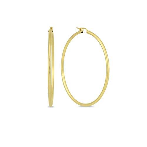 14K Yellow Gold Filled Hoop Earrings, 27mm
