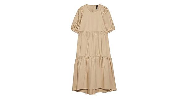 Zara 8048/202 Vestido asimétrico de Popelina para Mujer ...