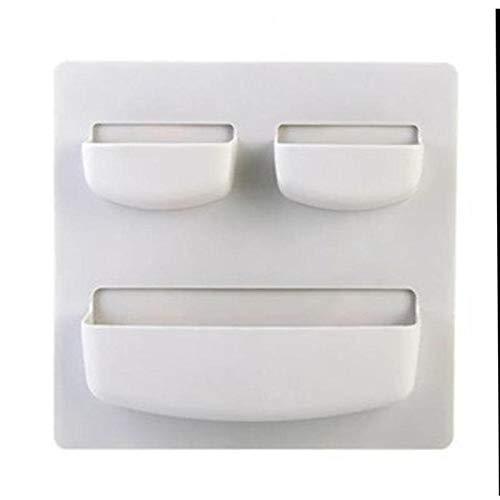 Caja de almacenamiento De plástico Autoadhesiva Refrigerador de la ...