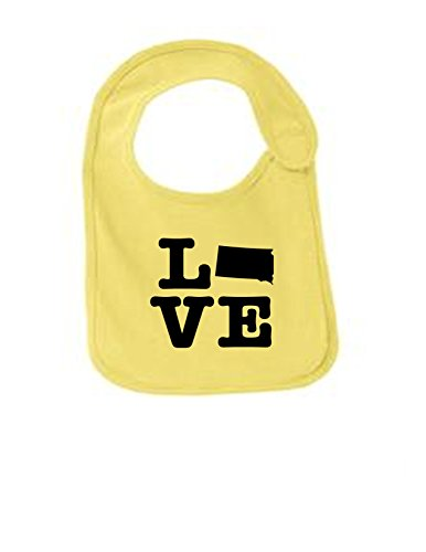 South Dakota Love Funny Infant Jersey Bib Yellow One Size