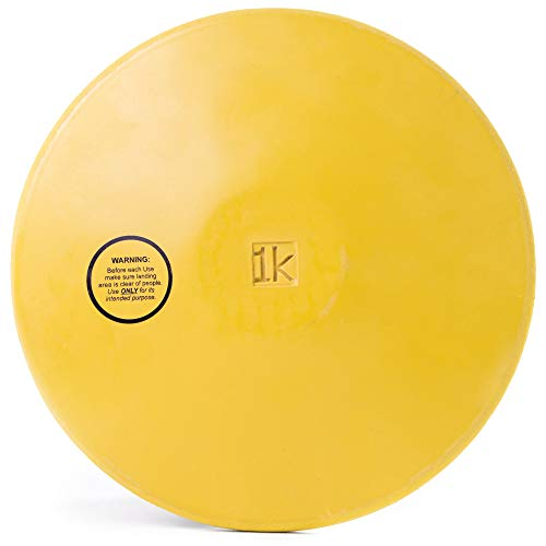 Crown Sporting Goods 1kg Rubber Practice Discus - Women & High School Girls Official Weight - Indoor & Outdoor, Green Non-Marking Rubber, 1 Kilo, Track & Field (Rubbers For School)