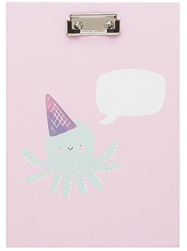 LaurDIY Pink Kawaii Collection Cute School Supplies Clipboard Padfolio and 50-Page Notepad