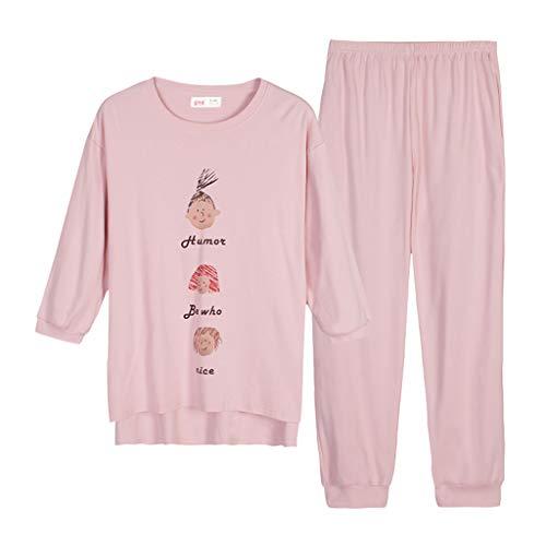 Pigiama M casa cotone Color da a autunno casa servizio Pink donna abiti per carino girocollo camicia per la da Pink notte maniche vestiti casual la Size lunghe dolce casa ShenZuYangShop abiti dqwFxSWUd
