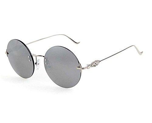 Arctic Star metal Colorful sunglasses men Ms. Prince circular frame metal mirror (Mercury - Glasses Cartier Girl