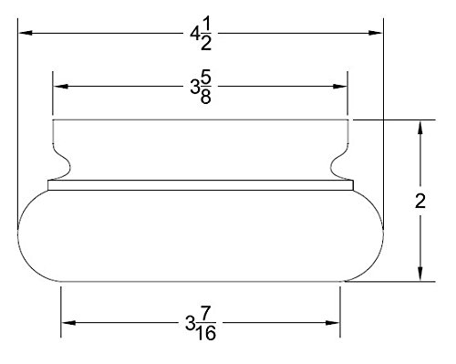 Highland Manor Wood Products Cliffside Bun Foot (Pine) - 2'' Tall x 4 1/2'' Diameter