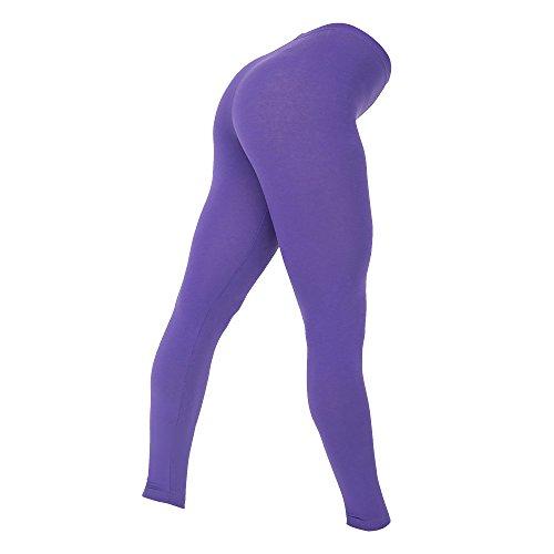 American Apparel Womens/Ladies Cotton Spandex Jersey Leggings (S) (Purple)