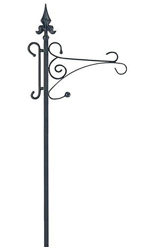 Gardman Fleur-De-Lis Shepherd Hook, Black, 6' 6''H by BestNest