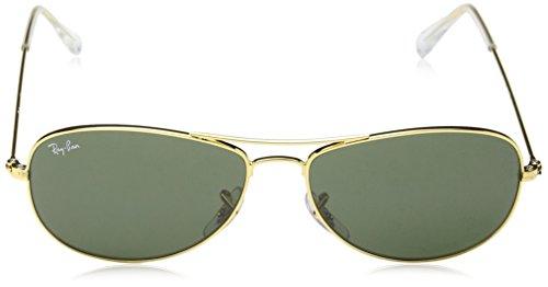 Ray Ban Rb3362 Cockpit Gold Frame/Green Lens Metal Sunglasses, 56mm