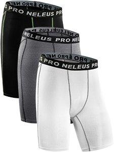 Neleus Men's 3 Pack Compression Short,047,Black,Grey,White,US XL,EU 2XL by Neleus (Image #1)