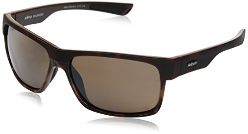 (Revo Unisex RE 5011X Camden Rectangular Polarized UV Protection Sunglasses, Tortoise Frame, Terra Lens)