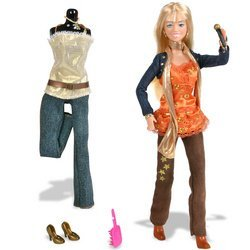 Hannah Montana Fashion Collection: Orange Top, Pants, Jeans with Jacket
