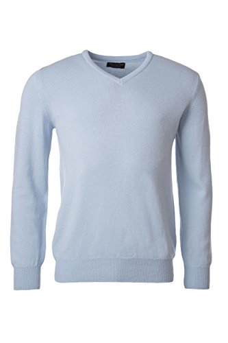Great and British Knitwear Men's 100% Lambswool Plain V Neck Sweater. Made In - You Fit Clearwater
