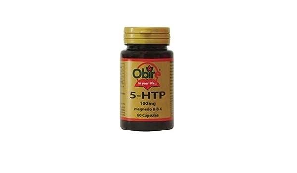 Triptófano (5-Htp 100 Mg) + Magnesio + B6 60 cápsulas de Obire: Amazon.es: Salud y cuidado personal