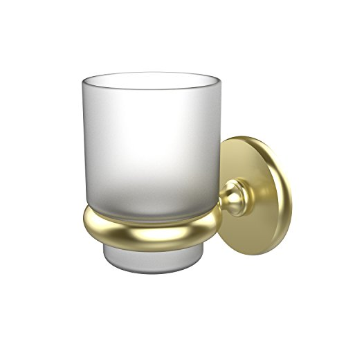 Allied Brass P1066-SBR Prestige Skyline Collection Wall Mounted Tumbler Holder Satin - Tumbler Mount Wall Holder