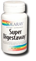 Solaray - Super Digestaway, 60 capsules