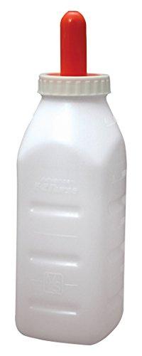 (E-Z Nurse Feeding Supplies 2 quart Screw-On Calf Nursing Set of Bottle with Nipple & Cap, Small)