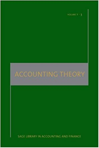 Accounting Theory (SAGE Library in Accounting and Finance