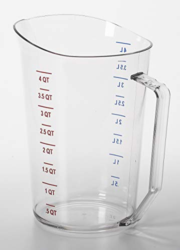 Cambro 400MCCW135 Camwear Measuring Cup 4 quarts clear