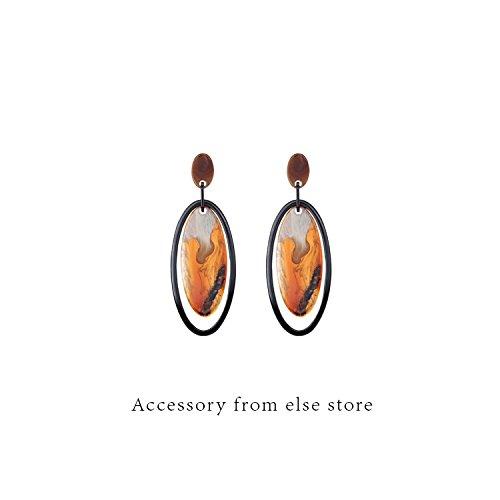 Custom catwalk models Acrylic oval ring shape earrings amber earrings