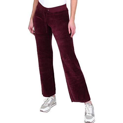 Juicy Couture Mar Vista Womens Velour Straight Leg Lounge Pants Purple Size L ()