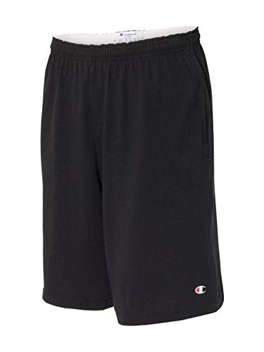 Champion Men's Jersey Short With Pockets, Black, Large from Champion
