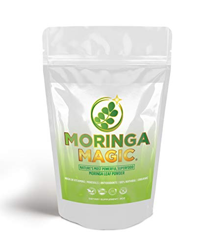 Moringa Magic's Spring Sale! 100% Pure Moringa Powder (8oz), Superior Superfood, Supports Overall Health & Weight Management, Powerful Immune Builder Throughout All Season!