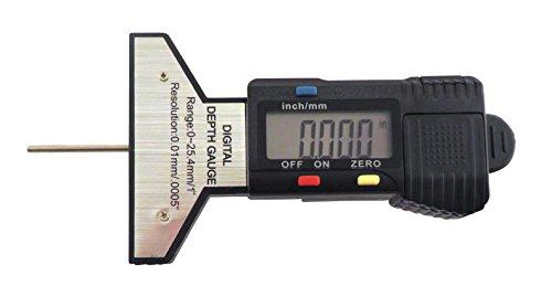 """Dial Digital Indicator (Taytools 0-1"""", 0-25 mm, Digital Depth Gauge Gage, Digital Dial Indicator, Snap Depth Gauge, 0.0005"""" Resolution, Tire Tread Depth Gauge DDG)"""