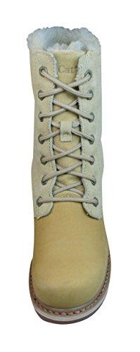 "Caterpillar Bruiser Scrunch Lace 8"" Botas de cuero de mujer / Zapatos Brown"