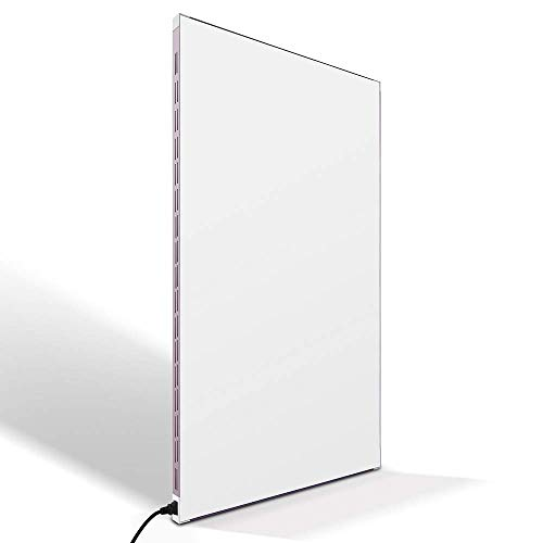 Wall Mounted Electric Heater, 120V 500W Convector Heater, Infrared Space Panel Heater for Home Bedroom Office, Ideal for 150 Sq Ft Room, Energy Efficient, Child Safe, Crack Resistant, Lightweight